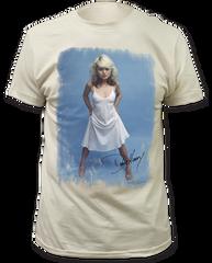Debbie Harry White Dress White Short Sleeve Adult T-shirt