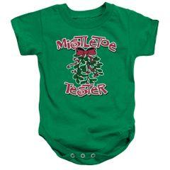 Christmas Mistletoe Tester Onesie