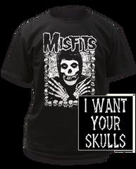 The Misfits I Want Your Skulls Black Short Sleeve Adult T-shirt