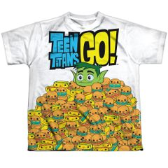 Teen Titans Go Burgers and Dogs Short Sleeve Youth T-shirt