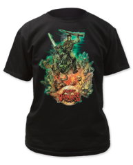 Army of Darkness Designed by Graham Humphreys Black Short Sleeve Adult T-shirt
