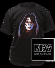 KISS Ace Frehley Black Short Sleeve Adult T-shirt