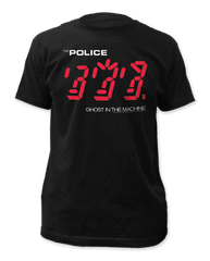 The Police Ghost in the Machine Black Short Sleeve Adult T-shirt