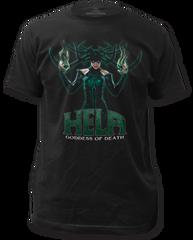 Thor Ragnarok Hela Black Short Sleeve Adult T-shirt