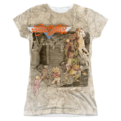 Aerosmith Toys in the Attic Sublimation Print Front Only Junior T-shirt