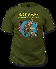 Sgt. Fury Howling Commandos Adult T-shirt