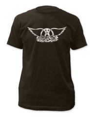 Aerosmith Band Logo Black Short Sleeve Adult T-shirt
