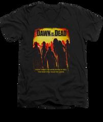 Dawn of the Dead Title Black Short Sleeve Adult V-Neck T-shirt