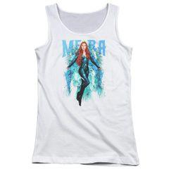 Aquaman Mera White Short Sleeve Junior Tank Top T-shirt