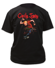 Circle Jerks Skank Man Black Cotton Short Sleeve Adult T-shirt