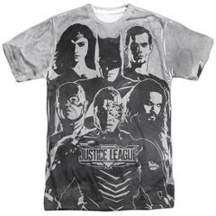 Justice League The League White Short Sleeve Adult T-shirt