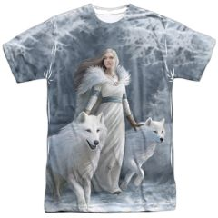 Annie Stokes Winter Guardians White Short Sleeve Adult T-shirt