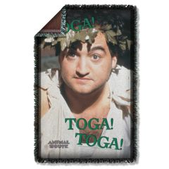 Animal House Toga Woven Throw Blanket