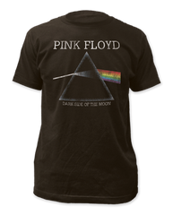 Pink Floyd The Dark Side of the Moon Distressed Black Short Sleeve Adult T-shirt