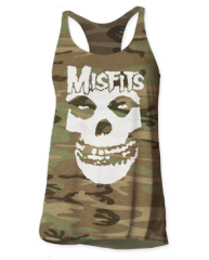 The Misfits Skull Logo Camo Women's Tank Top T-shirt