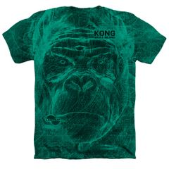 Kong Skull Island Lanset Kelly Green Short Sleeve Adult T-shirt
