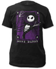 The Nightmare Before Christmas Bone Daddy Black Short Sleeve Adult T-shirt