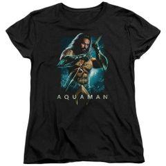 Aquaman Trident Black Short Sleeve Women's T-shirt