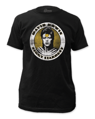 David Bowie Ziggy Stardust Black Coton Short Sleeve Adult T-shirt