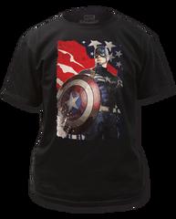 Captain America Winter Solder Patriotic Adult T-shirt