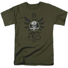 Kong Skull Island Sky Devils Military Green Short Sleeve Adult T-shirt
