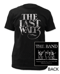 The Band The Last Waltz Black Cotton Short Sleeve Adult T-shirt