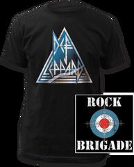 Def Leppard Rock Brigade Black Cotton Short Sleeve Adult T-shirt