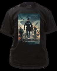 Captain America Winter Solder Poster Adult T-shirt