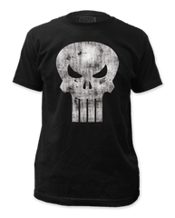 Punisher White Logo Distressed Adult T-shirt