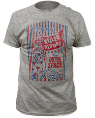 Killer Klowns from Outer Space Popcorn Box Heather Grey Short Sleeve Adult T-shirt