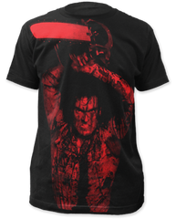 Evil Dead 2 Ash Williams Black Sublimation Print Short Sleeve Adult T-shirt