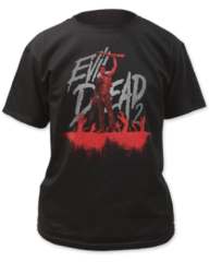 Evil Dead 2 Blue Ray Cover Black Short Sleeve Adult T-shirt