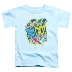 Teen Titans Go Go Light Blue Short Sleeve Toddler T-shirt