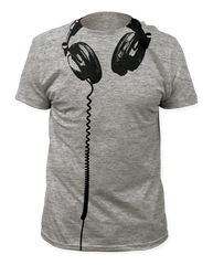 Headphones Big Print Adult T-shirt