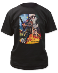 Evil Dead 2 Thai Poster Black 100% Cotton Short Sleeve Adult T-shirt