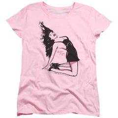 Bettie Page Hair Raising Pink Short Sleeve Women's Shirt