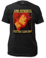 Jimi Hendrix Electric Ladyland Coal Short Sleeve Adult T-shirt