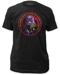 The Avengers Infinity Wars Thanos Black Short Sleeve Adult T-shirt