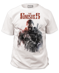 Punisher Watercolor Portrait Adult T-shirt
