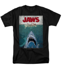 Jaws Lined Poster T-shirt