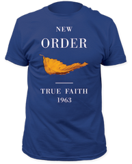 New Order True Faith Cool Blue Short Sleeve Adult T-shirt
