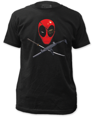 DeadPool Eyepatch Black Short Sleeve Adult T-shirt