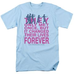 The Breakfast Club Forever Light Blue Short Sleeve Adult T-shirt