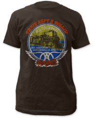 Aerosmith Train Kept A Rollin 100% Cotton Short Sleeve Adult T-shirt