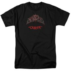 Carrie Prom Queen Black Short Sleeve Adult T-shirt