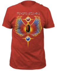 Journey Hits Heather Red Short Sleeve Adult T-shirt
