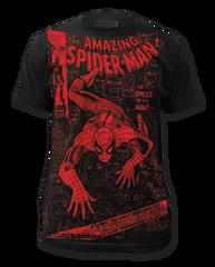 Spiderman Spider or The Man Big Print Adult T-shirt