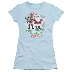 Christmas Santa Claus is Coming to Town Kringle to Claus Junior T-shirt