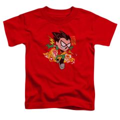 Teen Titans Go Robin Red Short Sleeve Toddler T-shirt