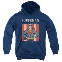 Superman Retro Liberty Youth Pull-Over Hoodie
